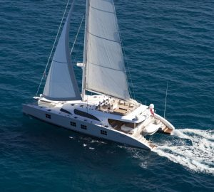 Charter newly refitted luxury catamaran Ipharra in the Caribbean