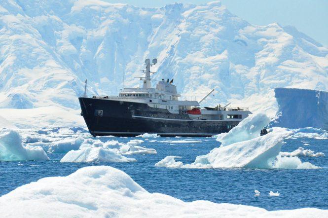 Superyacht LEGEND in Antarctica