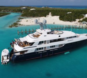Choose superyacht Broadwater for your winter charter in the Caribbean and Bahamas