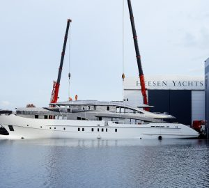 Construction update: Hull and superstructure joined for M/Y Project Neptune
