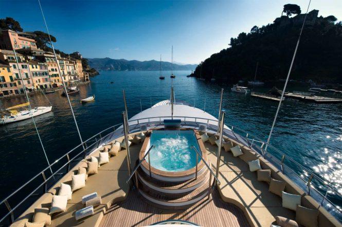 Enjoy a dip aboard Wellesley in Italy