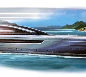 New 100m CROSSBOW Superyacht Concept by Hydro Tec