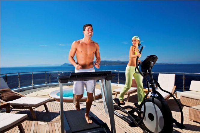 Outdoor Gym aboard O'MEGA