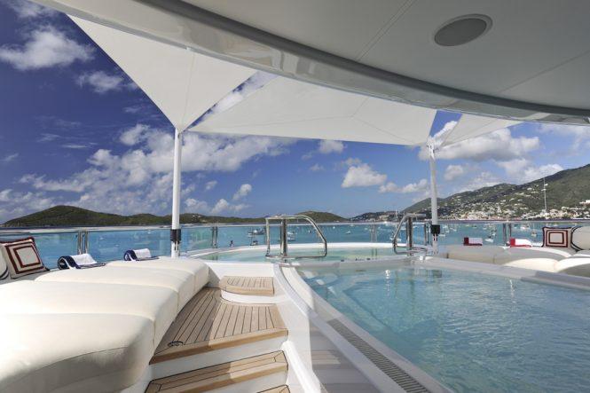 Sundeck spa pool aboard TV