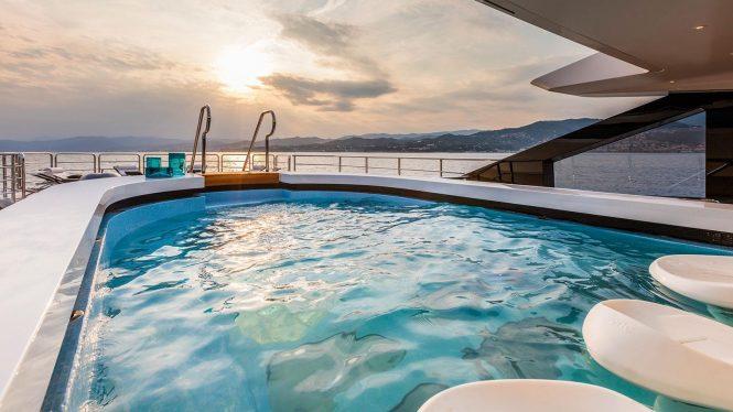 Swimming pool aboard SUERTE