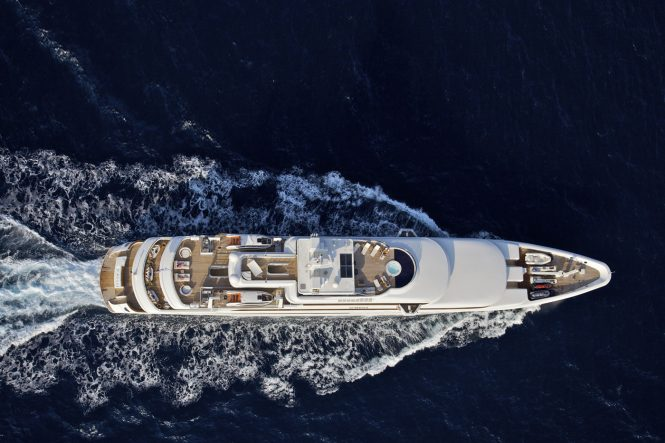Yacht OMEGA - From Above