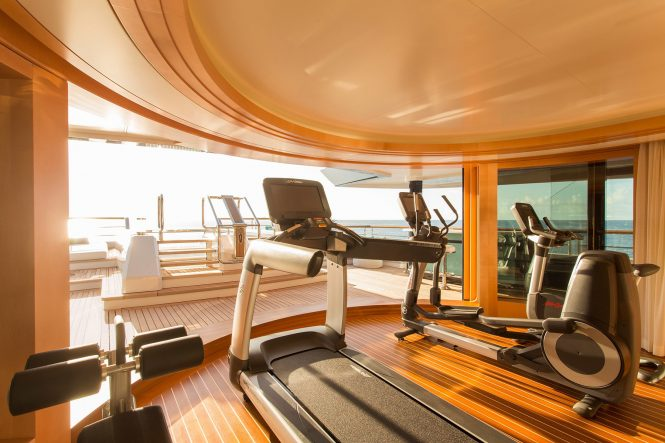 another great gym with a view and access to the pool