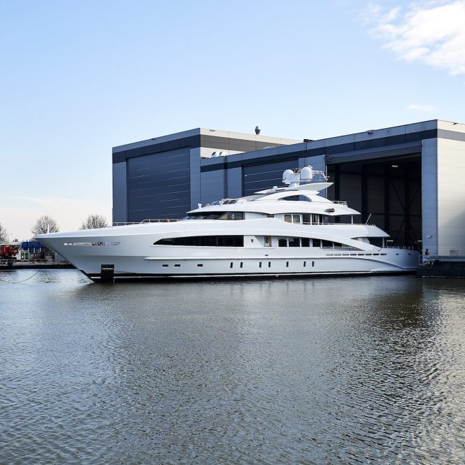 50m superyacht WHITE by Heesen, Frank Laupman of Omega Architects and Cristiano Gatto Design launched