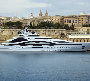 Mega yacht Al Lusail spotted along the Maltese coast