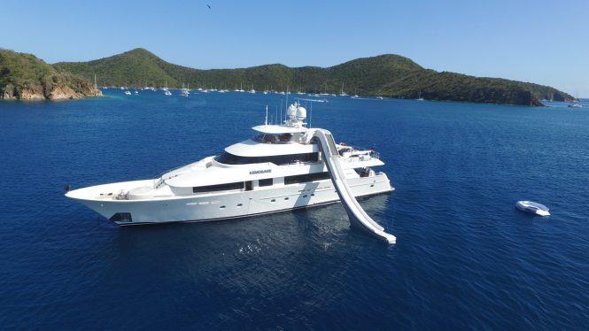Luxury yacht KEMOSABE