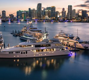 The superyachts in attendance at the Miami Yacht Show
