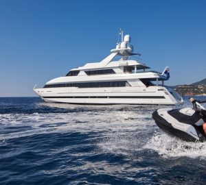 Charter superyacht Castellina to the Red Bull Air Race in Cannes