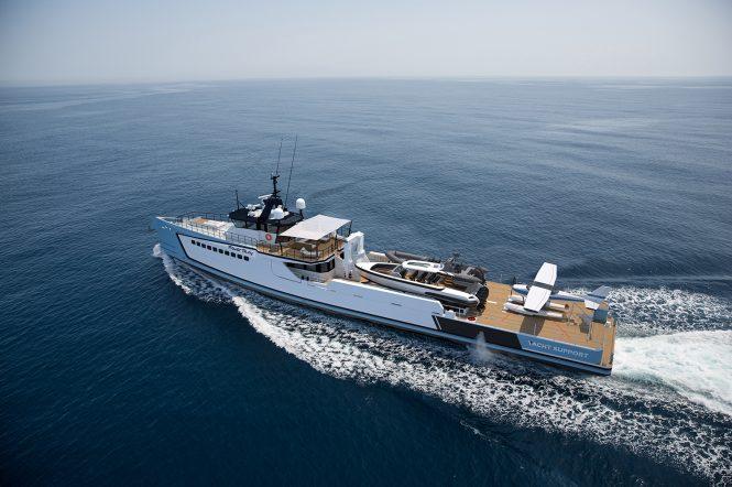 DAMEN vessel POWER PLAY with seaplane