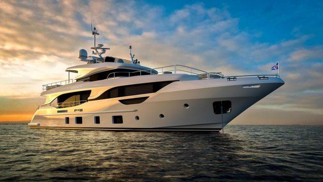 Delfino 95 superyacht URIAMIR 2018 - Photo credit Benetti