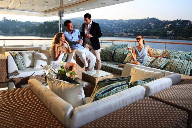 Relaxing atmosphere aboard HANA