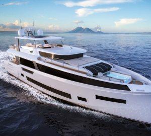 First Sirena 85 luxury yacht under construction