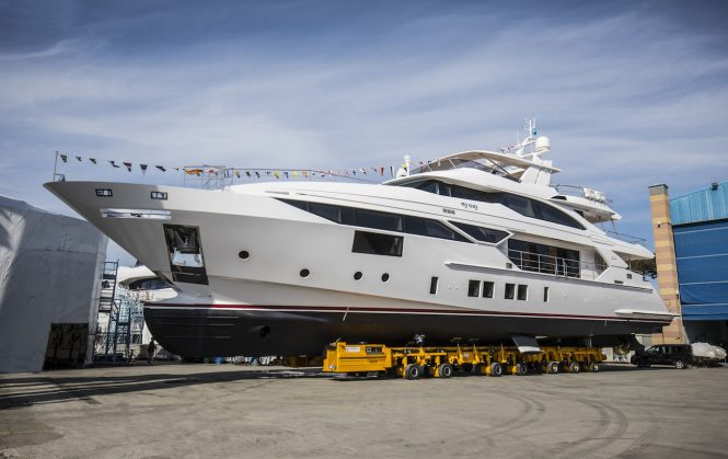 BF105 motor yacht My Way launched by Benetti