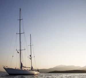 Newly-refitted classic Royal Huisman Sailing Yacht CYCLOS II for charter in the West Med