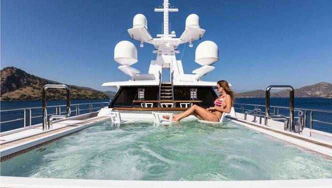 Fantastic on board swimming pool