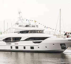 Delfino 95' motor yacht URIAMIR launched by Benetti
