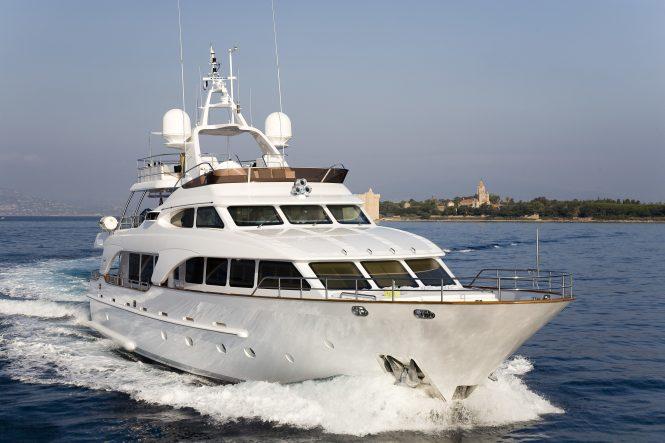 SALU motor yacht cruising in the Mediterranean