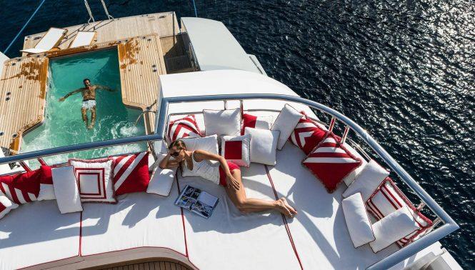 relaxing aboard AXIOMA