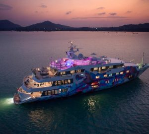 Monaco Grand Prix 2018 Passes with 69m Charter Superyacht SALUZI