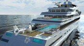 Amazing Glass Yacht the 110m HALYCON by New York Designer