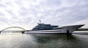 The Largest Superyacht in the Netherlands 110m Jubilee Launched by Oceanco