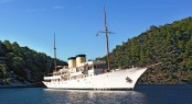 Historic 80m Charter Yacht Talitha Turns Heads in any Harbour