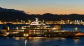 Brand New Photos of Lurssen Mega Yacht Amadea arriving in Gibraltar