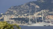 First Photos of Sailing Yacht A Cruising with Motor Yacht A