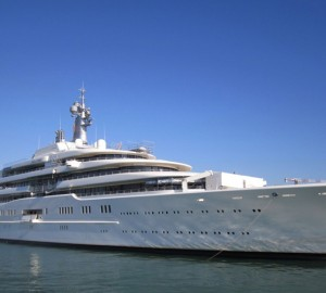 Luxury mega yacht Eclipse at Palmarina Bodrum