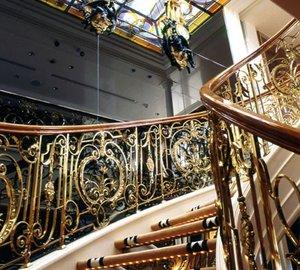 Close Up: Yacht SAVARONA's Stairway Photograph