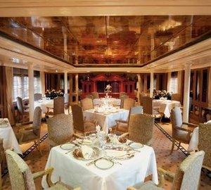 Eating/dining Saloon On Board Yacht SAVARONA