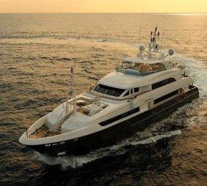Sunset Dusk: Yacht LADY LEILA's Cruising Image