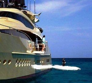 Ship's Tender Alongside On Yacht HOKULANI