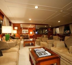 Sitting: Yacht SECRET LIFE's Saloon Pictured