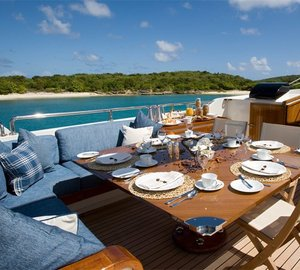 External Eating/dining On Board Yacht ANTARA