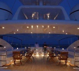Evening: Yacht O'CEANOS's Deck Captured
