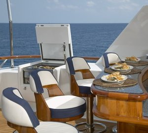 Top Deck Drinks Bar Aboard Yacht TELEOST