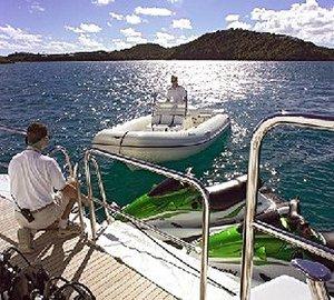 Swimming Landing With Toys On Board Yacht OL MI DA