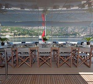 Outdoor Eating/dining Aboard Yacht MARIU