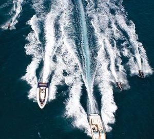 Ship's Tenders On Yacht UTOPIA