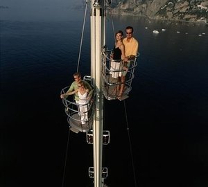 on the mast