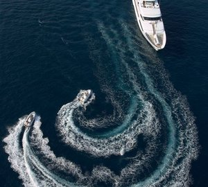 54m Feadship Aerial View With Water Toys