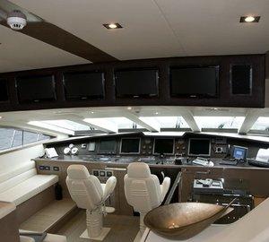 Pilot House Aboard Yacht RL NOOR
