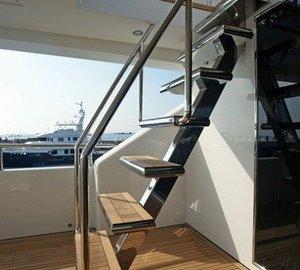 Deck Stairway On Board Yacht TATIANA