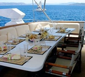 Outdoor Eating/dining On Board Yacht INDIA