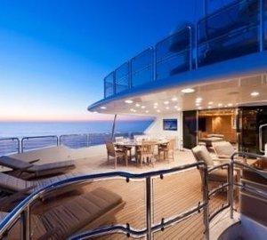 Sunset Dusk Aboard Yacht AFRICAN QUEEN